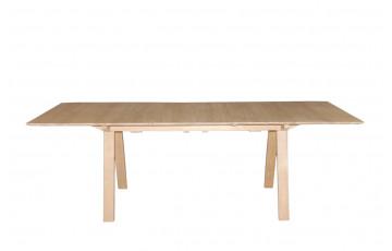 Table salle à manger en chêne naturel brut 6/8 personnes DELORM