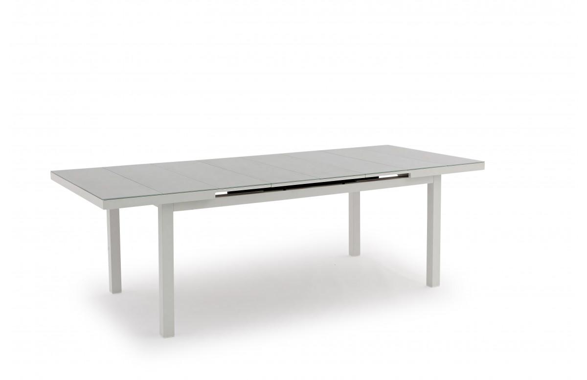 Table salon de jardin blanc 6/8 personnes DELORM