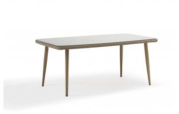 Table salon de jardin sable 6 personnes DELORM