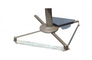 Lot de 4 dalles granit pour parasol DELORM