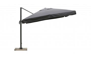 Parasol de jardin carré déporté et inclinable 3m gris anthracite DELORM