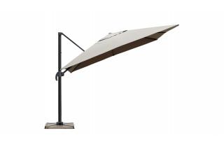 Parasol de jardin carré déporté et inclinable 3m taupe DELORM