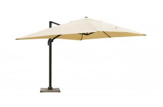 Parasol de jardin rectangulaire déporté et inclinable 4 x 3m sable DELORM