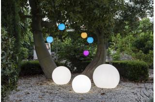 Boule lumineuse d'extérieur filaire bully 80 blanc NEWGARDEN
