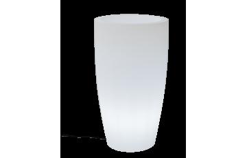 Pot de fleur lumineux d'extérieur filaire bambú 70 blanc NEWGARDEN