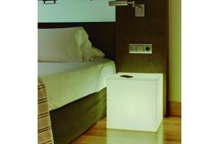 Cube lumineux d'extérieur filaire cuby 20 blanc NEWGARDEN