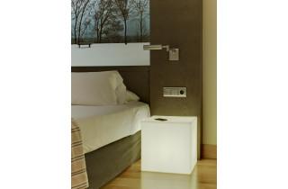 Table basse lumineuse d'extérieur filaire cuby 45 blanc NEWGARDEN
