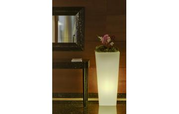 Pot de fleur lumineux d'extérieur filaire melisa 30 blanc NEWGARDEN