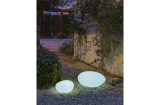 Galet lumineux d'extérieur filaire petra 60 blanc NEWGARDEN