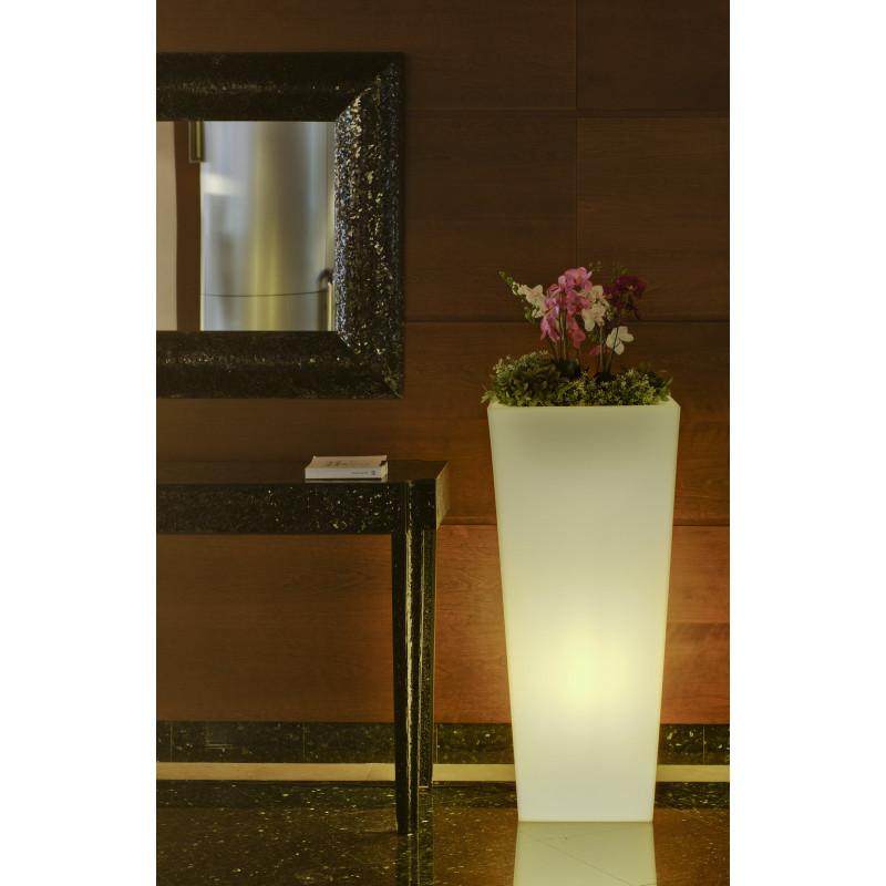 pot de fleur lumineux d'extérieur solaire melisa 30 newgarden