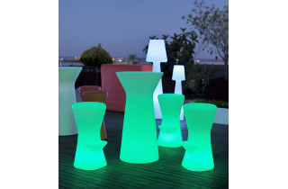 Mange debout lumineux d'extérieur rechargeable capri 110 NEWGARDEN