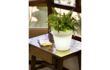 Pot de fleur lumineux d'extérieur filaire magnolia 45 blanc NEWGARDEN
