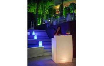 Bar de jardin lumineux filaire sicilia 75 blanc NEWGARDEN