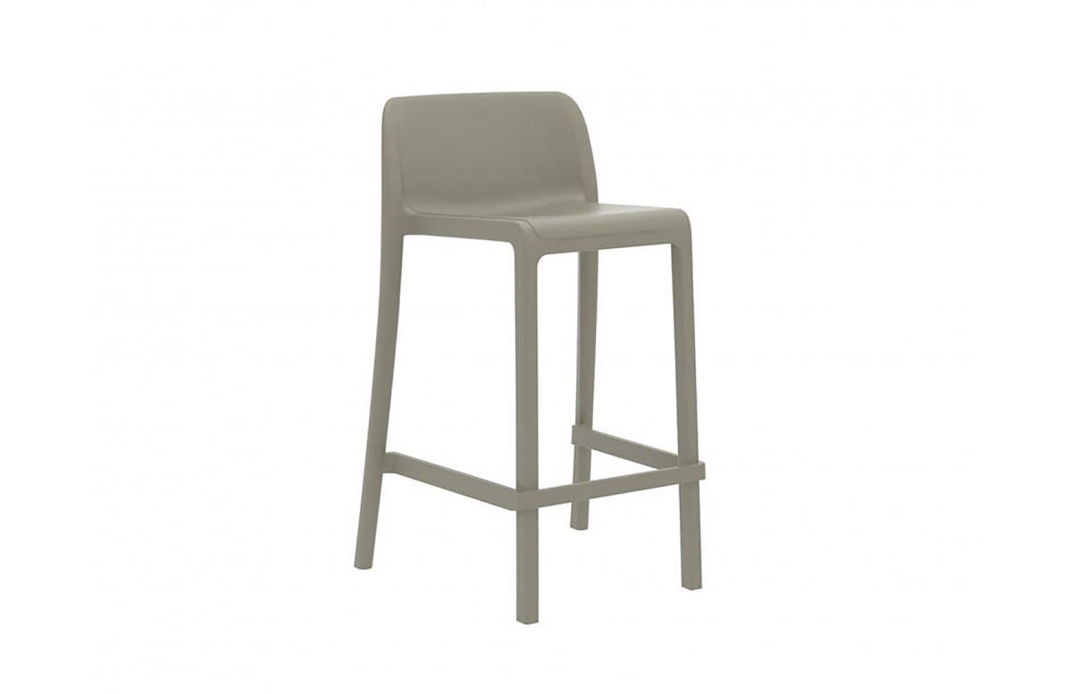 Chaise haute empilable ATTIC en polypropylène Taupe EZPELETA