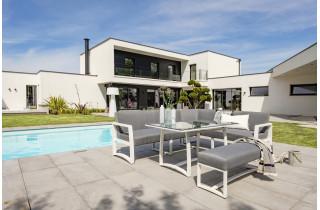 Ensemble table et chaises de jardin en aluminium 6 personnes DCB Garden blanc BELIZE