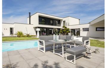 Ensemble table et chaises de jardin en aluminium 6/8 personnes DCB Garden blanc BELIZE