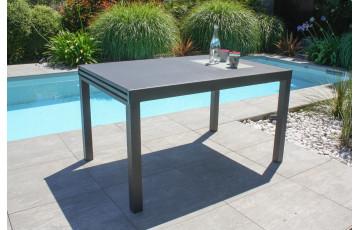 Table de jardin extensible 6/10 personnes GASTON en aluminium Anthracite CITY GARDEN
