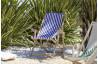 Chilienne pliante LONA en bois d'Eucalyptus et toile 100% coton CITY GARDEN