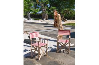 Fauteuil de jardin pliable LONA en bois d'Eucalyptus et toile CITY GARDEN