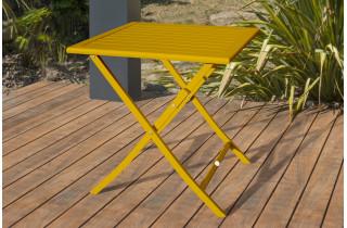 Table salon de jardin pliante et carrée en aluminium pour 2 personnes MARIUS CITY GARDEN