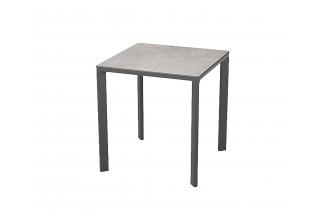 Table de jardin carrée empilable MEET en aluminium 2 personnes EZPELETA