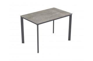 Table de jardin rectangulaire empilable MEET en aluminium 4 personnes EZPELETA
