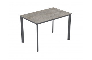 Table de jardin rectangulaire empilable MEET en aluminium 4/6 personnes EZPELETA