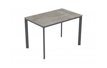 Table de jardin rectangulaire empilable MEET en aluminium 4/6 personnes EZPELETA