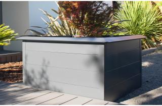 Mini carré potager ORTO 200x100 cm en acier galvanisé Anthracite CITY GARDEN