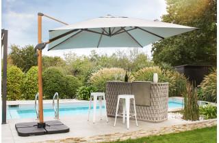 Parasol de jardin déporté inclinable SEVILLA 2,5x2,5m en aluminium et toile polyester DCB GARDEN