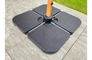 Dalle de parasol de jardin Lot de 4 dalles pour parasol à remplir Anthracite DCB GARDEN