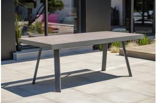 Table salon de jardin extensible en céramique/alu pour 12 personnes DCB Garden STOCKHOLM gris anthracite