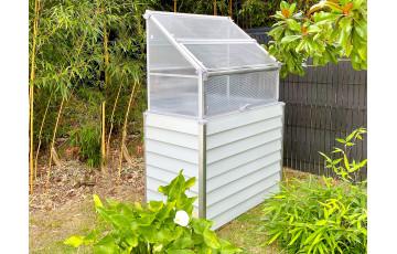 Mini serre de jardin adossable simple 62x120 cm STRETTO Blanc CITY GARDEN