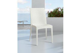 Chaise de jardin empilable CAGLIARI en PVC DCB GARDEN