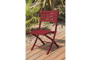 Chaise salon de jardin pliante en aluminium MARIUS CITY GARDEN