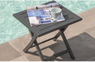 Table basse pliante 40cm en aluminium Marius CITY GARDEN