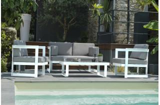Salon de jardin design bas en aluminium DCB Garden 4 places BARCELONA