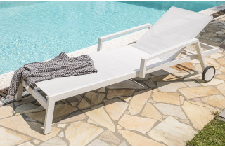 Bain de soleil design en aluminium & textilène Paris Garden IBIZA