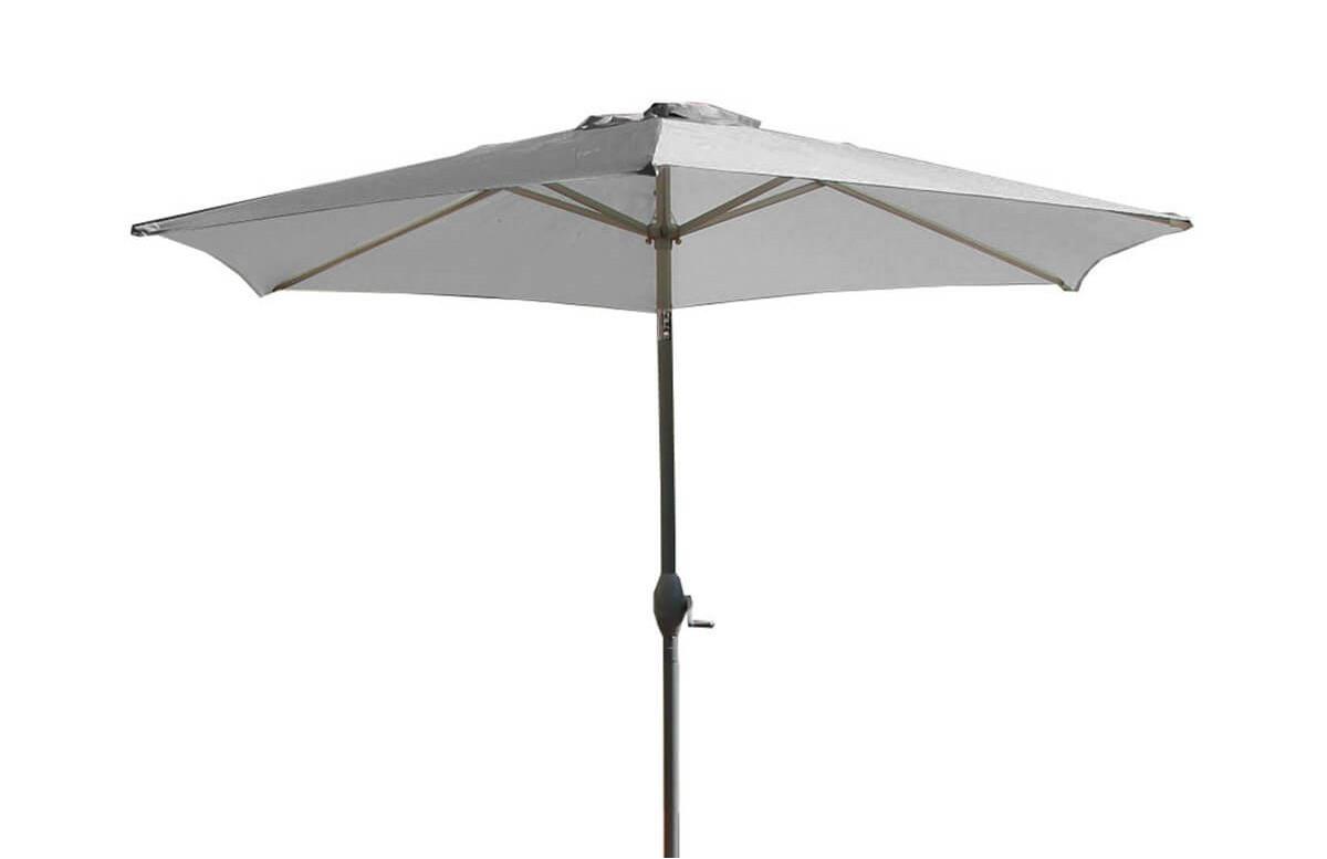 Parasol de jardin droit, inclinable et à manivelle 2m70 Marbella DCB Garden