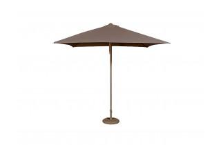 Parasol de jardin ouverture push-up EOLO 250x250 cm en aluminium laqué et toile OLEFIN® EZPELETA