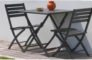 Ensemble table et chaises de jardin en aluminium 2 personnes Marius CITY GARDEN
