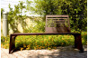Banc de jardin en corten bruni CUT - TrackDesign