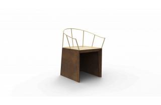 Chaise de jardin en corten bruni NEBIDA - TrackDesign par Francesco Paolo Maria Giuliani