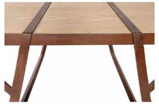 Table de jardin rectangulaire en corten bruni et bois de sapin EQUILIBRI - TrackDesign par Valentina De Carolis