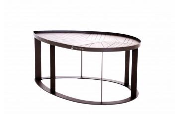 Table basse en corten bruni LILA - TrackDesign par Alessandra Savio