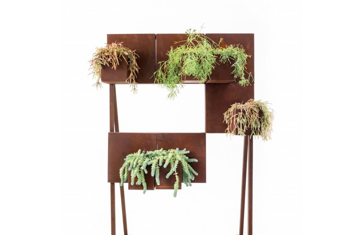Jardinière en corten bruni QUERINI - TrackDesign par Alessandra Savio