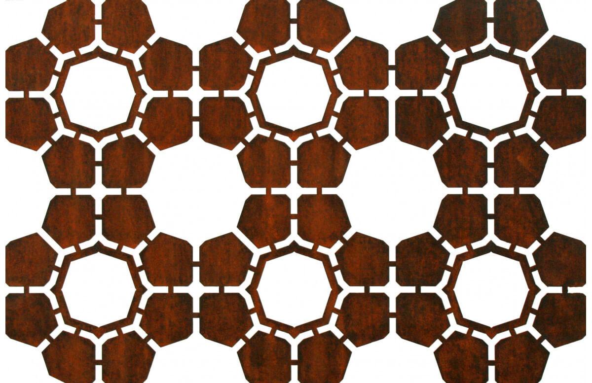 Panneau décoratif en corten bruni BEE - TrackDesign par Alessandra Savio