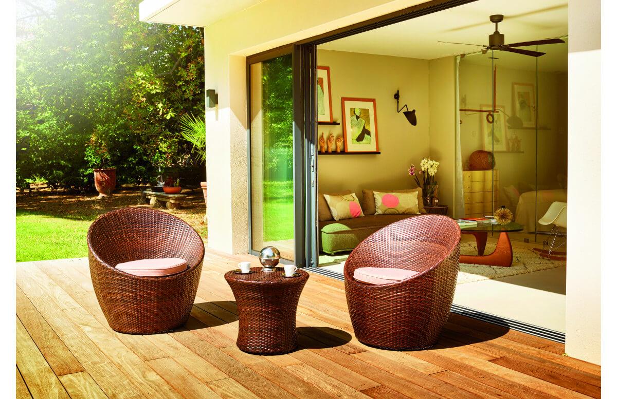 Salon de jardin bas 2 personnes en aluminium BELIZE - Hémisphère Editions
