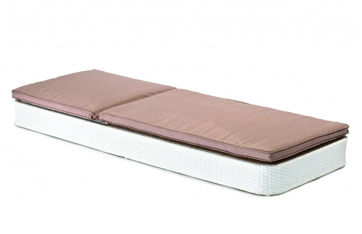 Bain de soleil empilable en aluminium blanc SUNNY - Hémisphère Editions