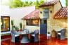 Ensemble table et chaises de jardin 4 personnes en aluminium naturel VULCANO - Hémisphère Editions